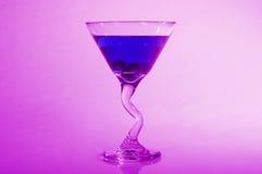 Bosbes Martini royalty-vrije stock fotografie