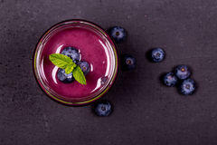 Bosbes smoothie Royalty-vrije Stock Fotografie