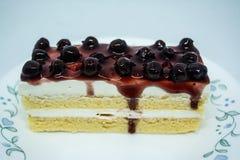 Bosbessen botercake, snacksvoedsel voor onderbrekingen tijdens het werk of na maaltijd royalty-vrije stock afbeelding