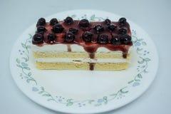 Bosbessen botercake, snacksvoedsel voor onderbrekingen tijdens het werk of na maaltijd royalty-vrije stock foto