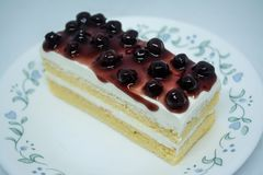 Bosbessen botercake, snacksvoedsel voor onderbrekingen tijdens het werk of na maaltijd stock foto's
