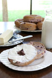 Bosbessenongezuurde broodjes Stock Afbeelding