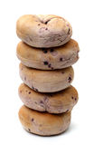 Bosbessenongezuurde broodjes Royalty-vrije Stock Foto's