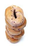 Bosbessenongezuurde broodjes Royalty-vrije Stock Afbeeldingen