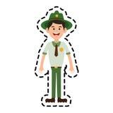 Bosboswachterspictogram vector illustratie