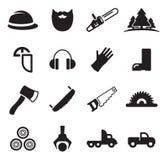 Boscaiolo Icons Fotografia Stock