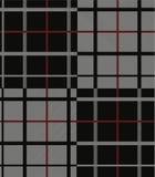 Boscaiolo modello tessuto bianco e rosso di Black del tessuto del plaid del grafico Immagini Stock Libere da Diritti