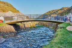 Boscastle桥梁,康沃尔郡 免版税图库摄影