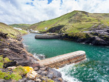 Boscastle. Harbour Cornwall England UK Royalty Free Stock Photo