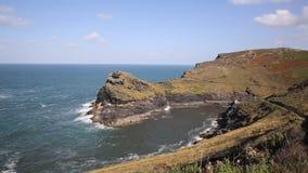 Boscastle coast North Cornwall England UK stock video footage