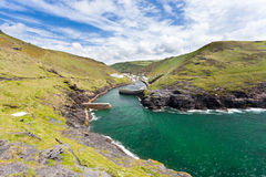 Boscastle Cornwall. Cliffs at Boscastle Cornwall England UK Stock Photo