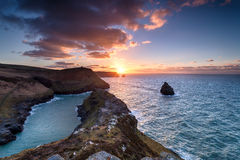 Boscastle in Cornwall Royalty Free Stock Photo