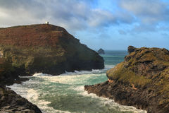 Boscastle Cornwall. Elevated view of Boscastle harbour North Cornwall UK Royalty Free Stock Images