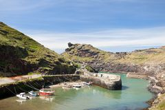 Boscastle in Cornwall England Royalty Free Stock Images