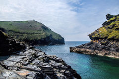 Boscastle, Cornwall. Seascape at Boscastle, Cornwall on an early summer day Royalty Free Stock Photo
