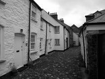 Boscastle: Cottage e vicolo Immagine Stock