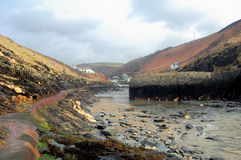 Boscastle harbour. View of boscastle harbour in winter Royalty Free Stock Photos