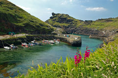 Boscastle harbour. The ancient fishing village of boscastle on the coast of north cornwall. england Stock Photos