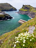 Boscastle Harbour. The entrance to the harbour at Boscastle on the North Cornwall Coast Stock Photography