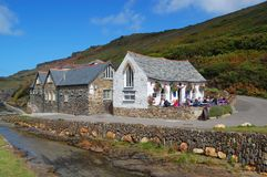 Boscastle, Harbour Light and Youth Hostel Royalty Free Stock Photo