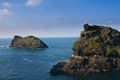 Boscastle Harbour View Stock Images
