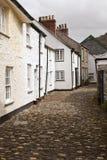 Boscastle. Residential street in Boscastle, Cornwall, England Royalty Free Stock Photos
