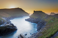 Boscastle Sunset Royalty Free Stock Images