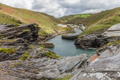 Boscastle. There`s more to Boscastle than a picturesque natural harbour and village Stock Photo