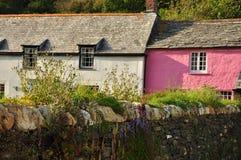 Boscastle village cottage, Cornwall, England, UK. Typical Cornish village cottages. Boscastle in North Cornwall, England, Britain Stock Photo