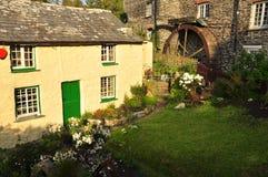 Boscastle village cottage, Cornwall, England, UK. Typical Cornish village cottages. Boscastle in North Cornwall, England, Britain Royalty Free Stock Photos