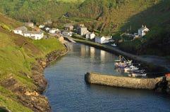 Boscastle village and harbor, Cornwall, England, UK. Typical Cornish / English village landscape. Boscastle harbour in North Cornwall, England, Britain Stock Photos
