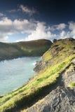 boscastle wybrzeże cornwal niewygładzony zdjęcie stock