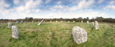 Boscawen-Un Stone Circle Stock Photos