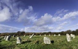 Boscawen-Un Stone Circle Royalty Free Stock Photos