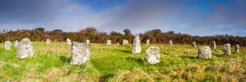 Boscawen-Un Stone Circle Royalty Free Stock Photo