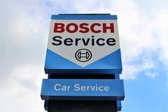 Bosch商标-比勒费尔德/德国的图象- 09/16/2017 免版税库存照片