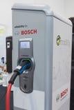 Bosch het laden post in Solarexpo 2014 in Milaan, Italië Royalty-vrije Stock Foto