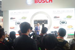 BOSCH home appliances exhibition sales Royalty Free Stock Photography