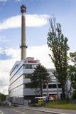 Bosch korporationslogo på byggnaden av högkvarter på Juni 18, 2016 i Prague, Tjeckien Royaltyfri Bild