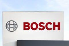 Bosch-Logo auf einer Platte Stockfotografie