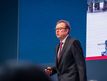 Bosch Software Innovations CEO Rainer Kallenbach delivers an address Stock Images