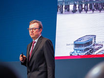 Bosch Software Innovations CEO Rainer Kallenbach delivers an address Stock Photos