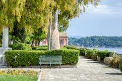 Boschetto Park or Boschetto Garden in Corfu Town, Greece. Royalty Free Stock Images