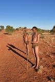 Boscimani dei cacciatori, Namibia Immagini Stock