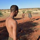 Boscimano dei cacciatori, Namibia Fotografie Stock Libere da Diritti