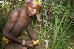 Boscimano di Hadzabe Fotografia Stock Libera da Diritti