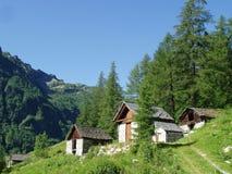 Bosco Gurin die Schweiz Stockfotos