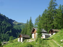 Bosco Gurin Switzerland Stock Photos