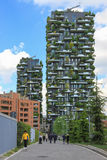 Bosco Verticale towers in Milan Royalty Free Stock Photos