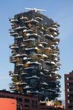 Bosco Verticale Towers nel distretto di Porta Nuova a Milano, AIS Fotografia Stock